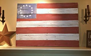 a pallet wood flag tutorial in honor of july 4th, diy, how to, pallet, patriotic decor ideas, repurposing upcycling, seasonal holiday decor, woodworking projects