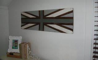 diy union jack sign old door headboard, bedroom ideas, crafts, home decor, repurposing upcycling, Union Jack sign