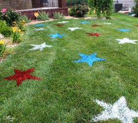 Painted 4th Of July Lawn Stars, Outdoor Living, Painting, Patriotic Decor  Ideas,