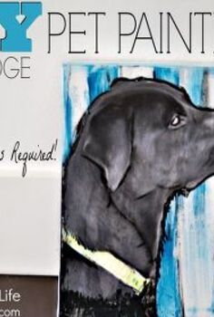 paint your own personalized pet portrait, crafts, decoupage