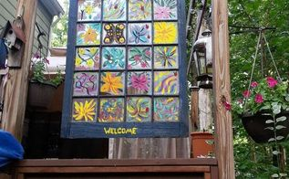 this old window another use, crafts, decks, outdoor living, repurposing upcycling, windows