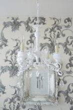 weekend project old new chandelier, home decor, lighting, painted furniture, repurposing upcycling