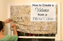 how to create a window valance from a pillow case, crafts, repurposing upcycling