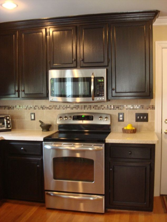 Painted and glazed kitchen cabinets hometalk for All in one kitchen cabinets