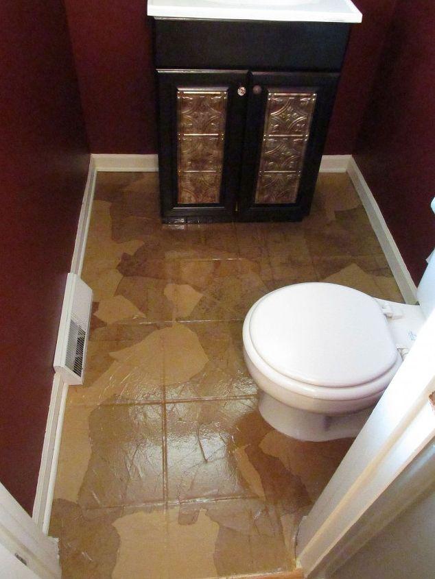 Guest Bathroom Paper Bag Floors Bathroom Ideas Flooring Repurposing Upcycling Tile Flooring