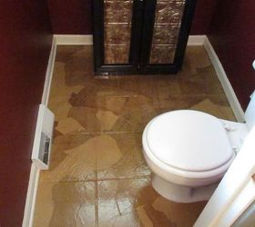 guest bathroom paper bag floors bathroom ideas flooring repurposing upcycling tile flooring
