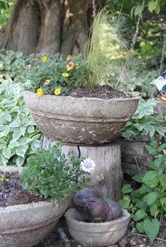 hypertufa planters, concrete masonry, diy, gardening, how to