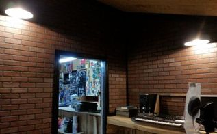 brick panels for my studio, diy, home improvement, wall decor