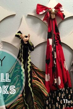 make your own wall hooks, how to, organizing, wall decor