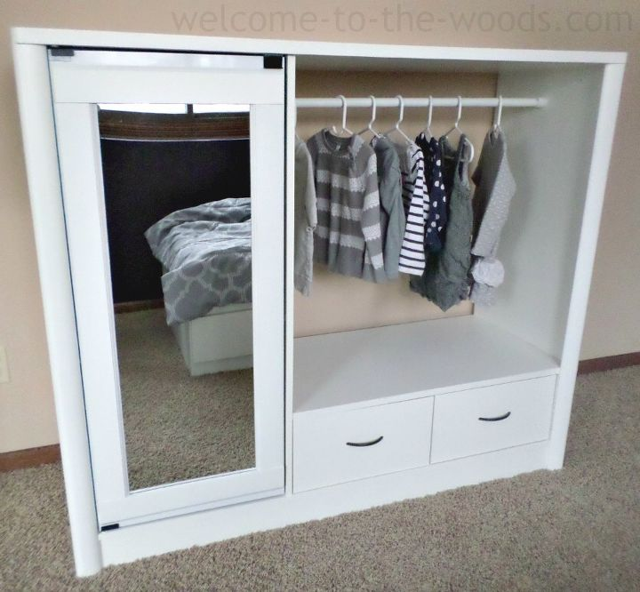 Entertainment Center Turned Kids Closet Armoire Furniture ...