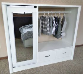 Entertainment Center Turned Kids Closet Armoire Furniture Makeover, How To,  Painted Furniture, Repurposing Melissa Woods