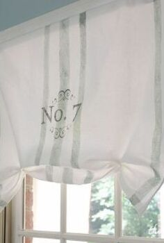 no sew painted window treatment, crafts, home decor