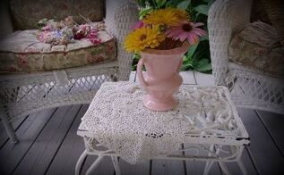my summer porch and blooms, curb appeal, gardening, outdoor living, porches, A little iron table on my porch