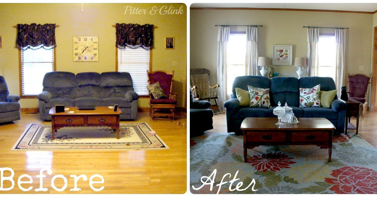 Living room makeover without paint or new furniture hometalk for All home decor furniture