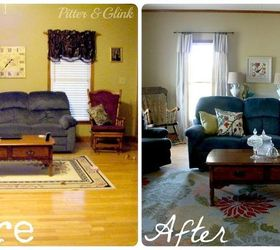 Living Room Makeover Without Paint Or New Furniture Home Decor Living Room  Ideas