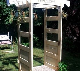 making snazzy re purposed garden arches gardening outdoor living another door arch set