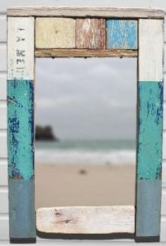 inspiring beach crafts with driftwood and sea glass, crafts