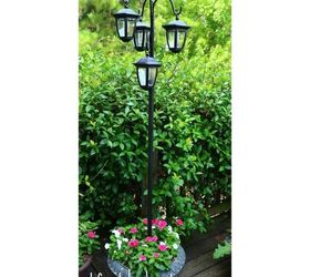 Easy Diy Solar Lights Lamp Post With Flower Planter, Go Green, Landscape,  Lighting