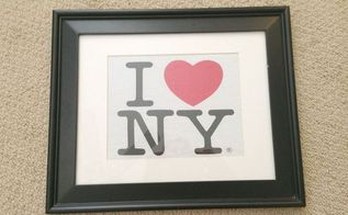 i heart ny artwork tutorial, crafts, repurposing upcycling, Frame