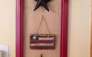 diy patriotic frame decor, crafts, patriotic decor ideas, seasonal holiday decor