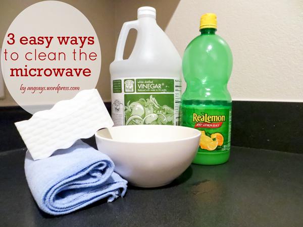 how to keep microwave clean