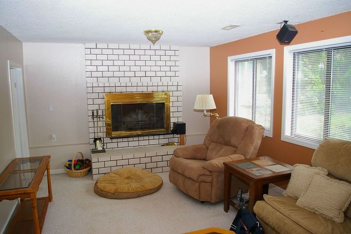 Would You Paint Your Brick Fireplace A Bold Orange We Did Fireplaces Mantels Home