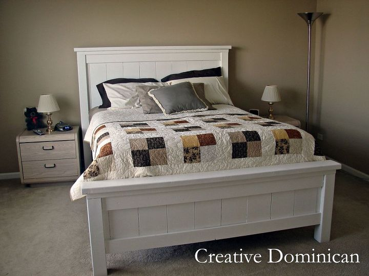 DIY Farmhouse BedDIY Farmhouse Bed   Hometalk. Diy Bedroom Furniture. Home Design Ideas