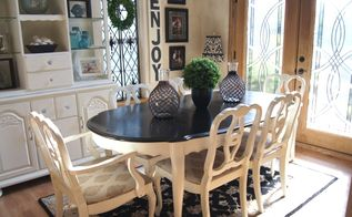 dining room table makeover, chalk paint, dining room ideas, painted furniture
