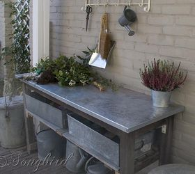 How To Turn A Garden Table Into A Potting Bench, Gardening, Painted  Furniture,