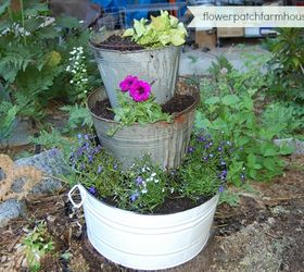 Buckets Of Flowers Flowers Gardening Stack And Fill Now With Old Galvanized  Buckets With Galvanized Steel Tubs Gardening