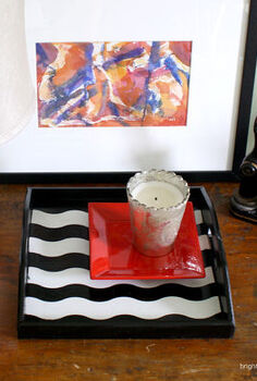 diy projects using frogtape shapetape, crafts, painting, How to Paint a Patterned tray with Shape Tape