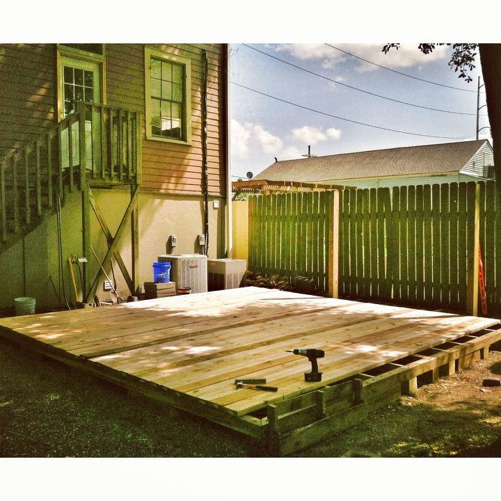 backyard deck in new orleans decks diy gardening outdoor living