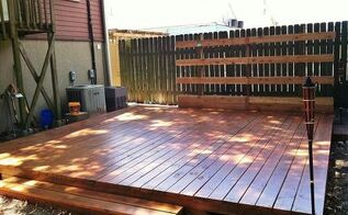 backyard deck in new orleans, decks, diy, gardening, outdoor living, urban living, woodworking projects, Natural cedar waterproof sealer