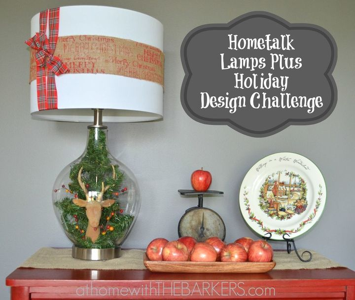 Lights Plus Decor: Guide My Sleigh Tonight Lamp { @LampsPlus Challenge