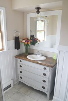 bathroom makeover, bathroom ideas, diy, home decor, small bathroom ideas, After