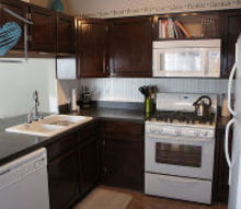 diy concrete countertops, concrete masonry, concrete countertops, countertops, diy, home decor, how to, kitchen backsplash, kitchen design, This is the after again we DID do alot of other things in addition to the countertops but you can get a better idea of the whole look this way