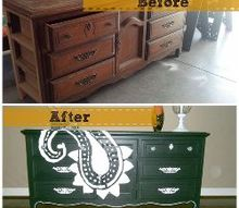 habitat restore find to graphic paisley buffet, painted furniture, Before and After
