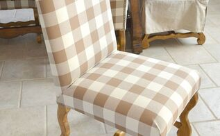 how to reupholster a chair, painted furniture, reupholster, I reupholstered this chair and 3 others just like it myself