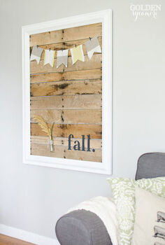 how i jumped on the pallet art bandwagon, crafts, pallet, repurposing upcycling, Finished pallet art display Perfect for displaying holiday decor birthday decorations even family photos