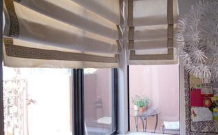 living room window treatment dilemma solved w diy roman shades, home decor