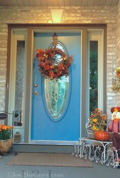 autumn porch, curb appeal, seasonal holiday decor, Hard to believe that October is around the corner