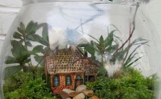 charmed gardens a collection of fairy miniature garden making tips, container gardening, crafts, gardening, terrarium, A rustic getaway in a jar See the directions at