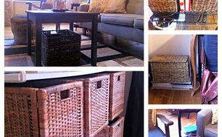 10 ways to decorate a tiny rental on a budget, home decor, urban living, Use baskets to add texture color and storage