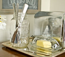 setting up a toast making station, home decor, kitchen design, repurposing upcycling, Organize a toast making station using a pretty tray