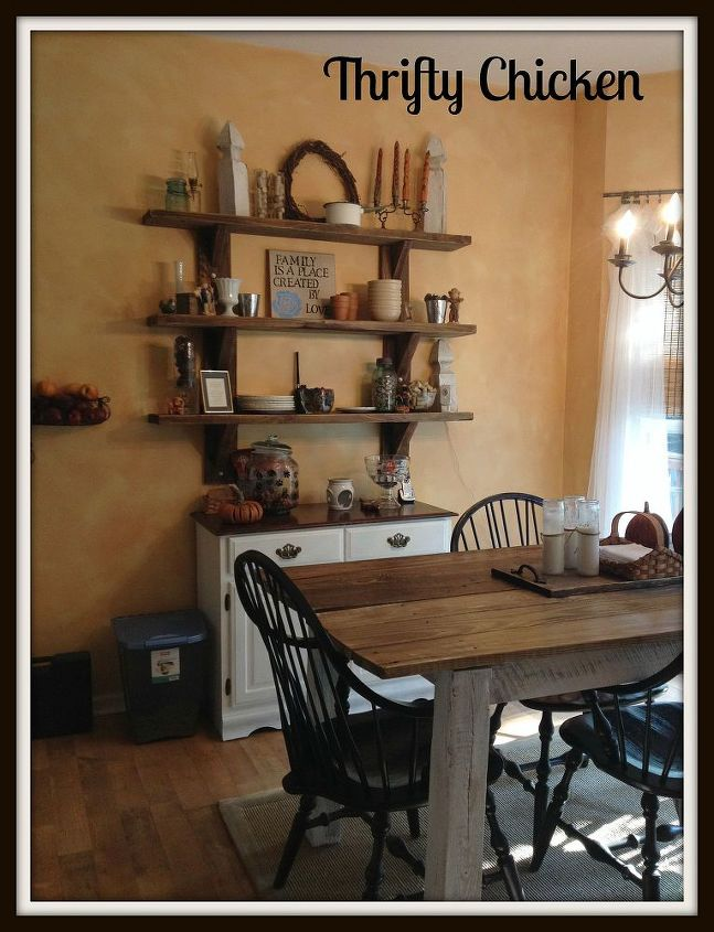 My New DIY Kitchen Table And Shelves Hometalk