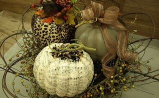 fall pumpkin decorating with a twist, crafts, decoupage, repurposing upcycling, seasonal holiday decor