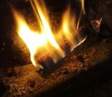 homemade fire starter for wood stoves and fireplaces, fireplaces mantels, Corn Cob Fire starter