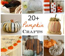 20 pumpkin crafts, crafts, seasonal holiday decor