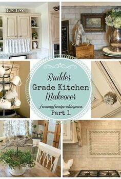 diy kitchen makeover, diy, kitchen backsplash, kitchen design, kitchen island, painting, We went from builder grade basic to french country chic