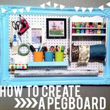 diy pegboard organization, craft rooms, organizing